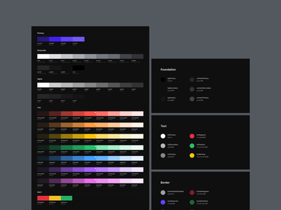 Design System - Color Tokens visual system palette color tokens colors design system