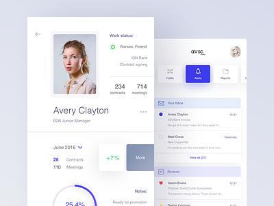 avsc. 3 mail profile crm ui shop mobile minimal flat ecommerce dashboard