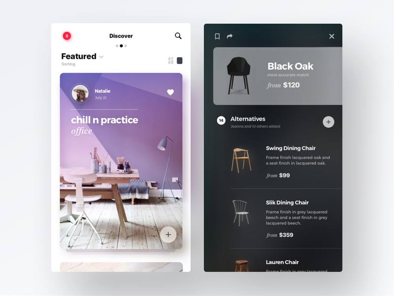 ai shopping 2 ux ui shopping mobile ios interior fluent app ai