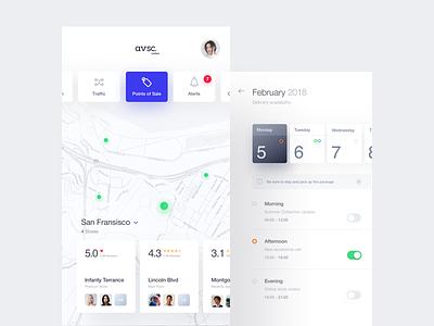 avsc. 6 white ux ui mobile minimal ios flat app
