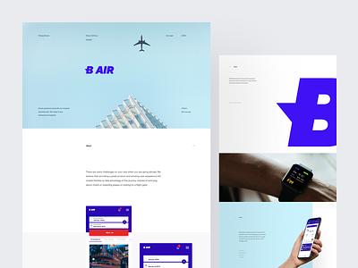 B AIR airlines mobile app ux ui