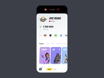 Overwatch Tournament concept mobile overwatch gaming tournament e-sport esport