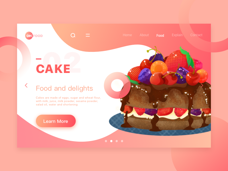 Do you like dessert? cake design ui color illustration