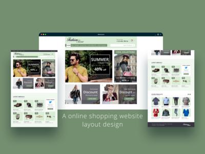 Online Shop website Layout