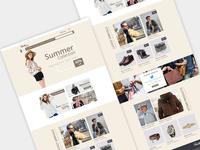 eCommerce Web template Design