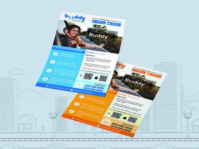 Flyer design for ride sharing service