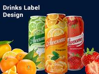 Drinks Label Design