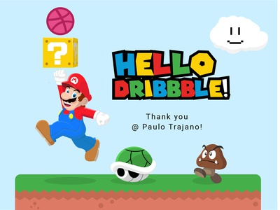 Super Mario Welcome to Dribbble