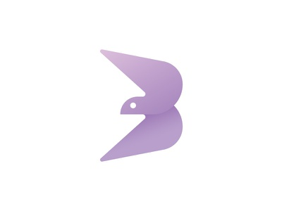 Bird (Letter B) animal b monogram minimalist bird logo design care health cosmetics product logo sophisticated elegance feminine freedom spa wellness cosmetics elegant bird bird brand letter b bird logo bird