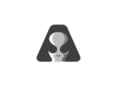 Alien symbol branding negative space minimalist minimal logo design logo designer alien head logo space alien mark alien symbol letter a logo alien logo alien