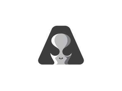 Alien A Monogram (for sale) illustration mark simple symbol branding negative space minimalist minimal logo design logo designer alien head logo space alien mark alien symbol letter a logo alien logo alien
