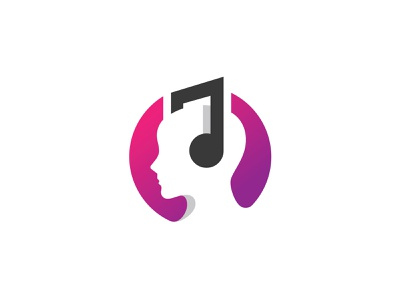 Headphone Music app headphone store logo music studio media logo multimedia sound enjoy music audio negative space minimalist minimal logo design music app dj logo music player headphone logo sounds music headphone