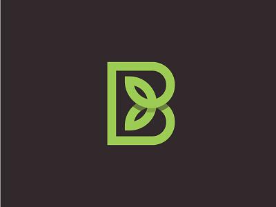 Letter B Plant (sold to client) illustration branding minimalist logo logo design logo designer fresh green agriculture logo natural b logo letter b logo b monogram