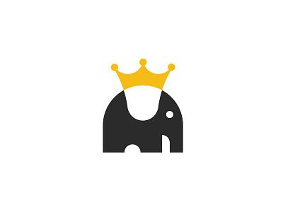 Elephant King identity design abstract gold elephant crown elephant symbol illustration branding minimalist minimal logo designer negative-space negative space logo animal illustration minimalist elephant minimal elephant design kingdom animal elephant king elephant logo elephant