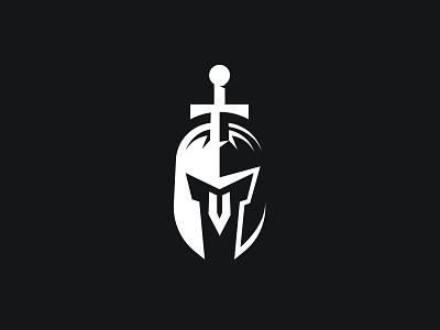 Spartan Honor spartan logo for sale spartan honor identity design brand designer spartan symbol spartan mark branding minimalist logo design logo designer negative space negative space logo metal blade dagger gladiator logo warrior spartan logo sword in helmet spartan helmet