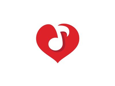 Music Heart music logo modern music logo logo design negative space minimalist minimal logo design logo designer music school logo music in heart love music music note heart music heart logo