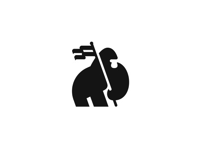 Gorilla gorilla flat logo gorilla illustration logo design logo designer animal minimalist minimal logo monkey negative space male warrior silverback logo muscle chimp gorilla holds flag gorilla logo gorilla