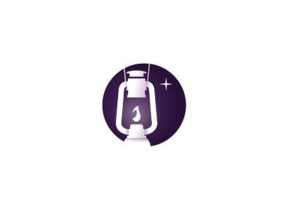 Logo Project star magic fantasy icon logo night light vintage lantern