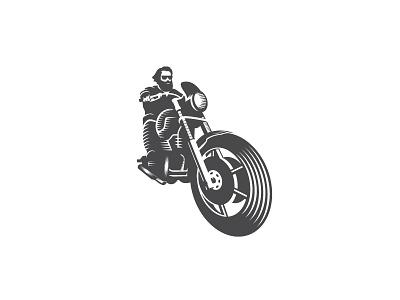 Biker freedom moto motor illustration vintage logo designer ride garage logo motorcycle biker