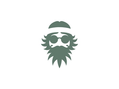 Hippie (Client Work) negative space logo retro vintage extract mustaches beard hemp health logo designer logo design cannabis logo lifestyle weed cbd oil stoner marijuana cannabis hippie