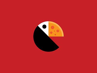 Toucan Pizza minimal logo minimalist logo designer logo design toucan logo pizzeria logo restaurant food slice pizzeria bird toucan toucan pizza