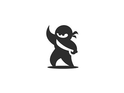 Ninja Logo logo branding logo designer minimalist minimal simple logo design negative space japanese culture samurai katana sword ninja mascot logo design ninja