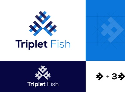 Logo Design for Triplet fish