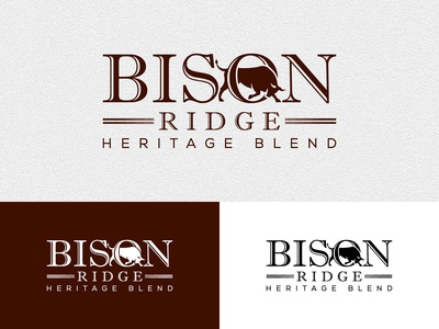 Logo design for Bison Ridge.