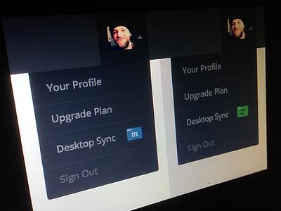 Which folder icon? menu drop-down profile sync web app avatar invision folder
