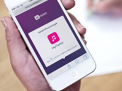 Install Prototype install webapp app ios7 iphone invision prototype mobile