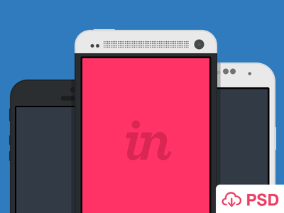 iPhone and Android PSD (FREE) free psd iphone ios android photoshop vector mobile devices invision freebie