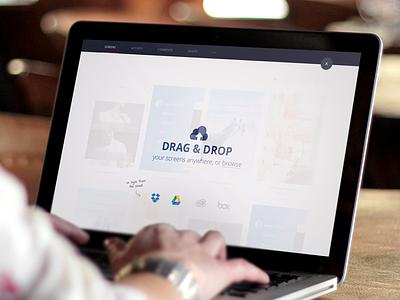 Drag & Drop invision v5 ui web app web app prototyping project screens upload drag drop