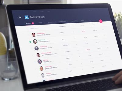 Company Management invision v5 ui web app web app prototyping project screens enterprise dark material