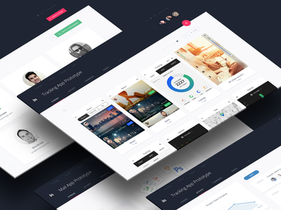 InVision v5 tiles material dark comments screens project prototyping web app app ui v5 invision