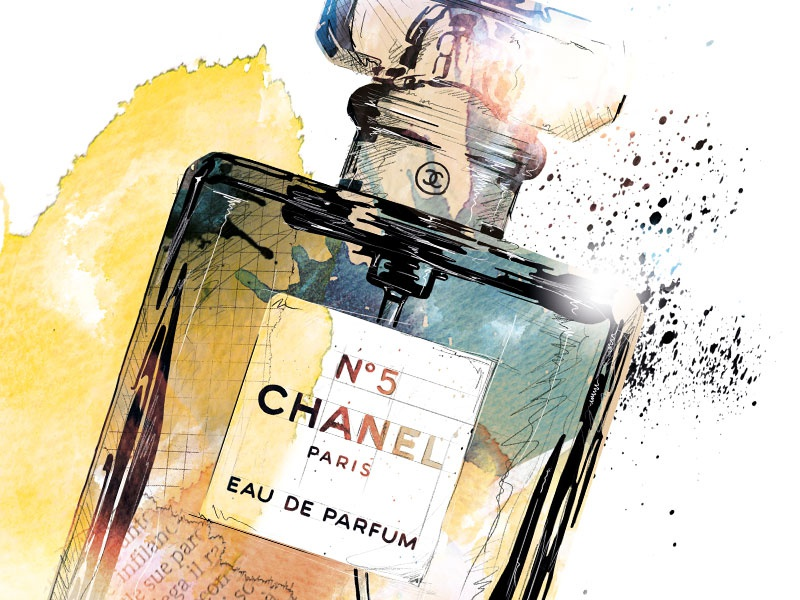 0914fbbdbb06 Fragrance Illustration: Chanel No.5 paris chanel perfume fragrance digital  art drawing watercolor photoshop