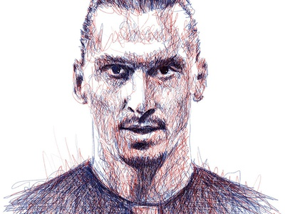 Scribble Portrait: Ibrahimovic