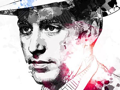 Digital Portrait Illustration: Al Pacino godfather al pacino movie hollywood portrait digital art drawing watercolor photoshop wacom ink illustration