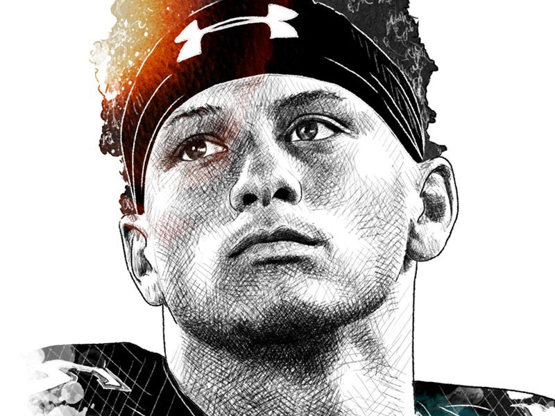 Espn Illustration Patrick Mahomes By Sergio Ingravalle On
