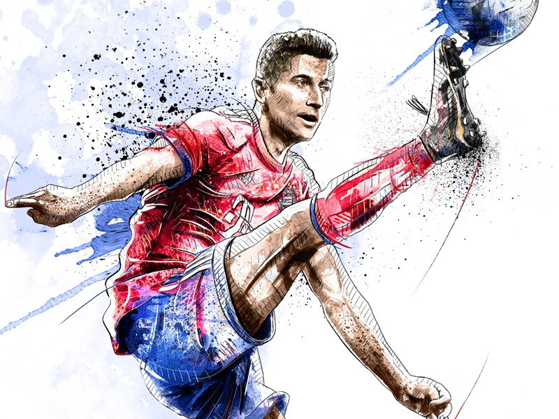 eb49b945114 FC Bayern Munich Illustration: Robert Lewandowski by Sergio ...