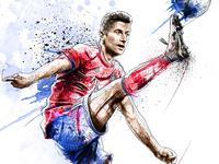FC Bayern Munich Illustration: Robert Lewandowski