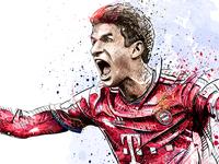 FC Bayern Munich Illustration: Thomas Mueller