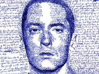 Hand-scripted portrait of Eminem