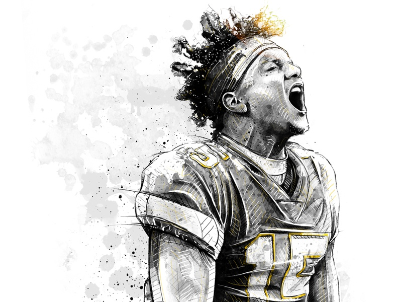 Sport Illustration For Adidas Patrick Mahomes By Sergio