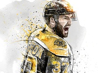 Sport Illustration for Adidas: Patrice Bergeron