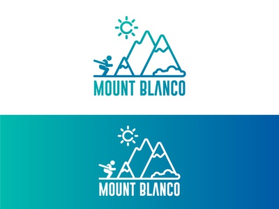 Ski Mountain Logo/ Mount Blanco