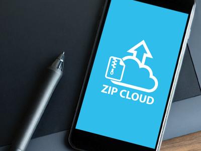Cloud Computing Logo, Zip Cloud Logo
