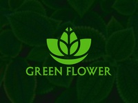 Green Flower Logo Design For Business