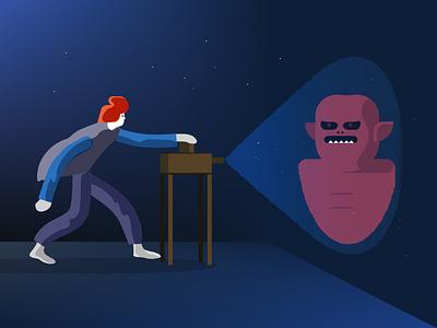 Who's afraid of the dark curiosity night science illustration magazine camera obscura illustration illustrator dark
