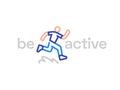Be active logo branding health sport illustrator adobe vector illustration