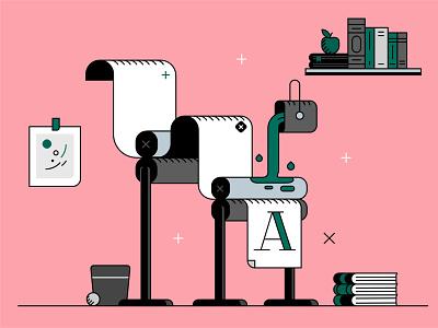 Priniting press printing printing press print illustrator adobe vector illustration